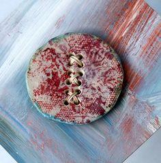 Huge Ceramic Button Mutant Lace Button 12 hole by buttonhabit,