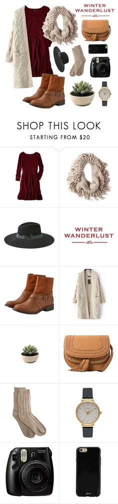 """""""Winter Wanderlust with American Eagle: Contest Entry"""" by mmcray ❤ liked on Polyvore featuring American Eagle Outfitters, MANGO, Bamford, Olivia Burton, Sonix and aeostyle"""