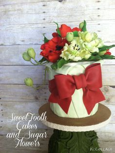 Parrot Tulips and Poppies Cake