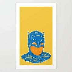 Adam West Art Print by Rabassa - $28.98