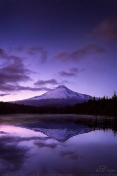 Purple Mt. Fuji.
