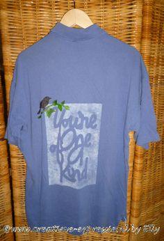 Le petit oiseau & sa branche ont été réalisés avec la peinture 3D DIAM'S sur ce tshirt