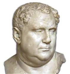 The emperor Aulus Vitellius Germanicus is remembered for his passion for the food and ...  http://www.romeandart.eu/it/arte-vitellius.html