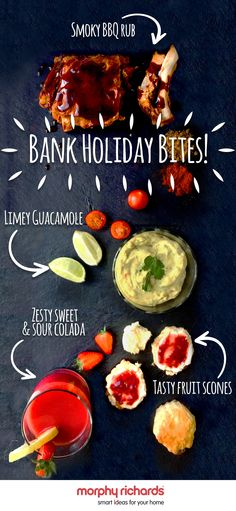 These 4 quick and easy recipes will make sure you can enjoy a tasty weekend of food and make the most of your time off! Bank Holiday Recipes, Fruit Scones, Bbq Rub, Bank Holiday Weekend, Quick Easy Meals, Guacamole, Tasty, Baking, Vegetables