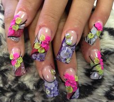 Acrylic nails by Sonia at Sonjoly's Nails @ Bliss Salon in Kissimmee, Florida