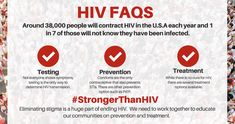 It's up to all of us to stop HIV stigma and encourage testing, prevention, and treatment. Hiv Prevention, Aids Awareness, Life Savers, Encouragement, Places, Ideas, Thoughts, Lugares