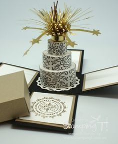 Stampin' Up! Stamping T! -Celebrate Exploding Box Open
