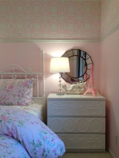 Girls room on a budget