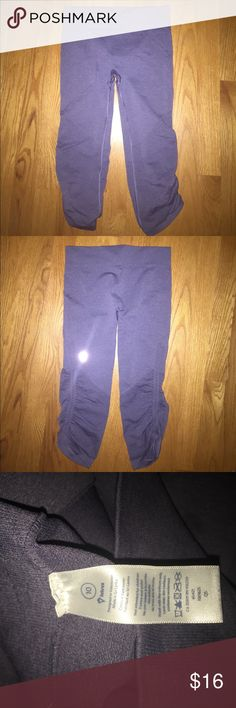 Ivivva cropped leggings!! 🖤These Ivivva cropped leggings are a gray purple color. They have a cool pattern on them. On the side of the leg it is so cinched in. Super cute!! No signs of wear NWOT!! Up for offers!🖤 Ivivva Pants Leggings