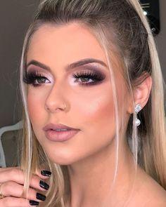 Bride Makeup, Prom Makeup, Wedding Hair And Makeup, Eye Makeup, Hair Makeup, Makeup Trends, Makeup Inspo, Makeup Looks For Brown Eyes, Make Up Inspiration