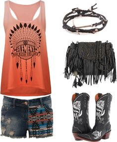 Polyvore clothing combination Fashion outfit in boho bohemian hippie gypsy style. For more follow www.pinterest.com/ninayay and stay positively #pinspired #pinspire @ninayay