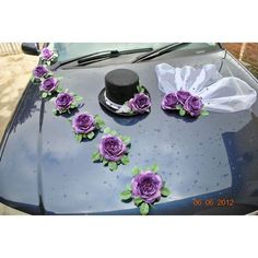 Models of car decoration for brides - Büşra - # Trolley # Büşra Wedding Car Decorations, Wedding Crafts, Wedding Getaway Car, Car Wedding, Just Married Car, Bridal Car, Groom Wedding Dress, Head Table Wedding, Wedding Messages