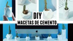 DIY Macetas de cemento - Coco Alternativo