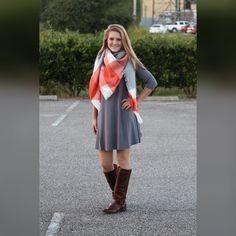 Piko Dress: Charcoal