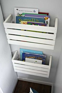 DIY Crate Book Storage - 37 Insanely Smart DIY Storage Ideas You Need To Know