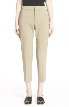 CHLOÉ Stretch Wool Crop Pants. #chloé #cloth #