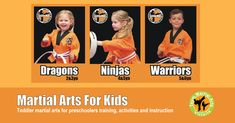 Little Martial Arts is the best way for young kids to enter martial arts. We guide kids through exciting program of obstacles, taekwondo and games. Gaining Confidence, Warrior 2, Preschool Art, Taekwondo, Motor Skills, Martial Arts, Art For Kids, Good Things, Activities