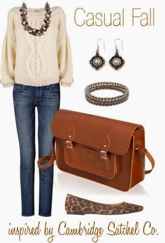 Adorable shirt, jeans and handbag combination for fall Fun and Fashion Blog