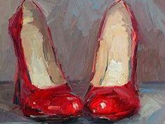 Lael Weyenberg Rojo Nothing lifts the spirits like a pair of red shoes! Lael Weyenberg Rojo Nothing lifts the spirits like a pair of red shoes! Painting Still Life, Still Life Art, Painting Inspiration, Art Inspo, Style Inspiration, Illustration Art, Illustrations, Arte Pop, Red Shoes