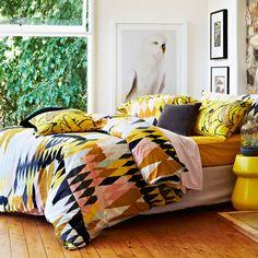 Chambre jaune - Linge de maison coloré