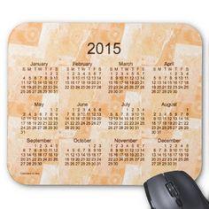 Peach Patchwork 2015 Calendar Mousepad Design from Calendars by Janz