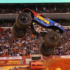 Ready to see Spider Man fly through the air!? Come out to Colonial Life Arena Feb 7-8 to see! #MonsterJamCLA