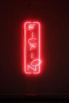 """Fiction"" neon by artist Nicolas Delprat"