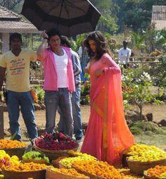 Shah Rukh Khan and Deepika Padukone snapped on the sets of Chennai Express