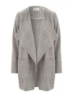 Heather Grey Open Front Waterfall Cardigan | Stella Rae's :: New ...