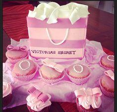 Victoria Secrets fondant cake and cupcakes combo.