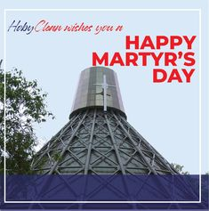 Today we honor those who sacrificed their lives for what they believed in. Their bravery up to death reminds us never to stop believing and place all faith in God A Blessed #MartyrsDay. Online Laundry, Martyrs' Day, Faith In God, Blessed, Death