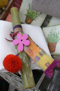 easter candle Celestine, Decoupage, Gift Wrapping, Candles, Easter Candle, Amelie, Easter Ideas, Crafts, Greek