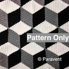 Crochet+Isometric+Blanket+/+Afghan+Pattern