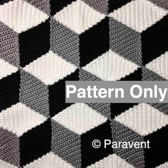 Crochet Isometric Blanket / Afghan Pattern by Paravent on Etsy, $5.00