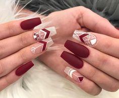 nail tips diy Beauty Hacks Wine Nails, Aycrlic Nails, Matte Nails, Best Acrylic Nails, Acrylic Nail Designs, Nail Art Designs, Fabulous Nails, Gorgeous Nails, Trendy Nails