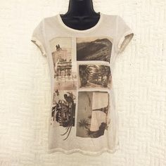 ALL SAINTS Tee In good preowned condition.  US size 4 / small.  Length measures 24 inches.  50% cotton, 50% modal.  Has a vintage wash throughout.  Made in Portugal.  No trades. All Saints Tops Tees - Short Sleeve