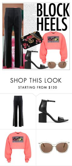"""""""Untitled #758"""" by neflaluna on Polyvore featuring Fendi, Alexander Wang, Alexander McQueen, Gucci and blockheels"""
