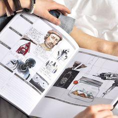 January was a frosty month.  #passionplanner #sketchbook #copic #sketch #art_we_inspire ##visualdiary #visualdiary_art #rastorgueva_calendar #pashfam #puravidabracelets