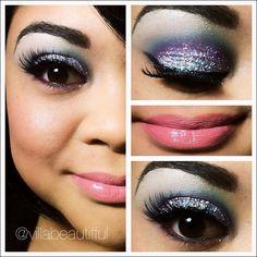 kaleidoscope glitter eyes #makeup