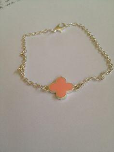 Bridal Pink Pendant Bracelet by joytoyou41 on Etsy, $20.00