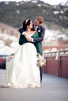 Winter wedding... bride & groom. Gorgeous setting-- Sky Lodge, Park City, UT.