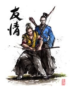 Kirk and Spock samurai style by MyCKs.deviantart.com on @DeviantArt