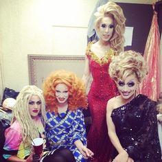 Top queens, Adore Delano, Jinkx Monsoon, Alaska Thunderfuck and Queen B aka Bianca del Rio