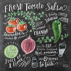 Kicking off the weekend with this week's illustrated recipe- salsa for your…