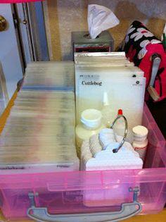 Cuttlebug folder storage