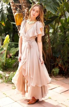 This dress makes me dream just to look at it; so bohemian yet so stylish - bonnaire-corgan-venice-dress