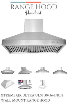 XtremeAir is a trademark brand. It has been recognized as one of the leaders of quiet & powerful kitchen ventilation systems. We have maintained its specialization and focused on becoming the definitive kitchen ventilation brand in the appliance industry. Range Hood Homeland carried every XtremeAir range hood model! Check us out today at rangehoodhomeland.com. Kitchen Ventilation, Ventilation System, Wall Mount Range Hood, Range Hoods, House Smells, Appliance, Homeland, New Homes, Album