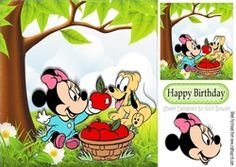 I will share my Apples with you  cute mouse   puppy 8x8 on Craftsuprint - View Now!
