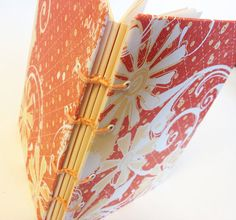 Orange Cream and White Mini Album or Journal by lovebirdbooks, $14.00