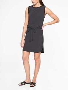 71a38ef7b5ca Athleta black tie waist day dress Court Dresses